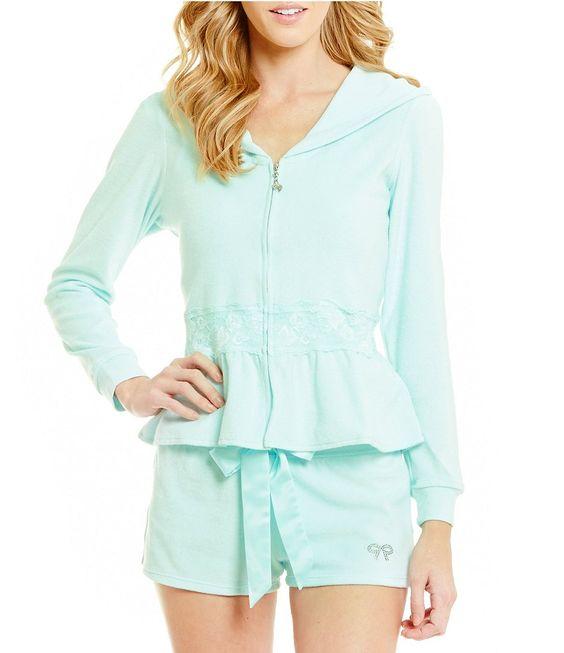Betsey Johnson Bride Baby Terry Zip Hoodie