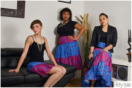Capella by Bayiee -  Two color bohemian long skirt - by Bayiee on Afrikrea, €65.00