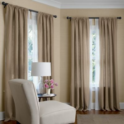 Bedroom Curtains bedroom curtains and drapes : Pair (two 50W panels) curtains drapes, 100% linen, oatmeal, flax ...