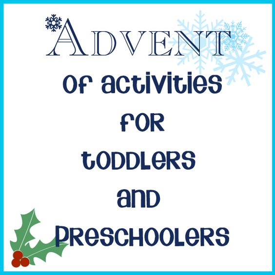 Advent Calendar Preschool : Advent activities and for toddlers on