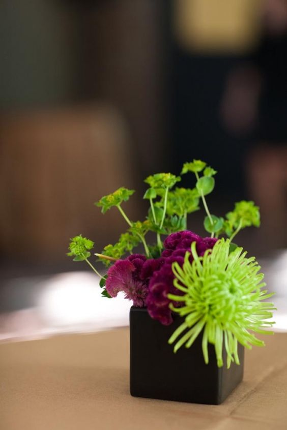 Small square floral-centerpiece
