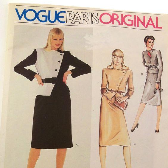Vintage Dior Suit Pattern Vogue 2470 Paris Original by Revvie1, $10.00