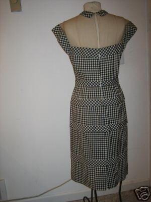 Peggy Hunt gingham dress back