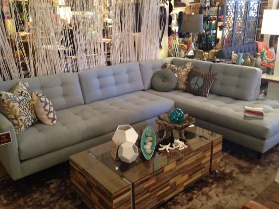 Gray sectional.