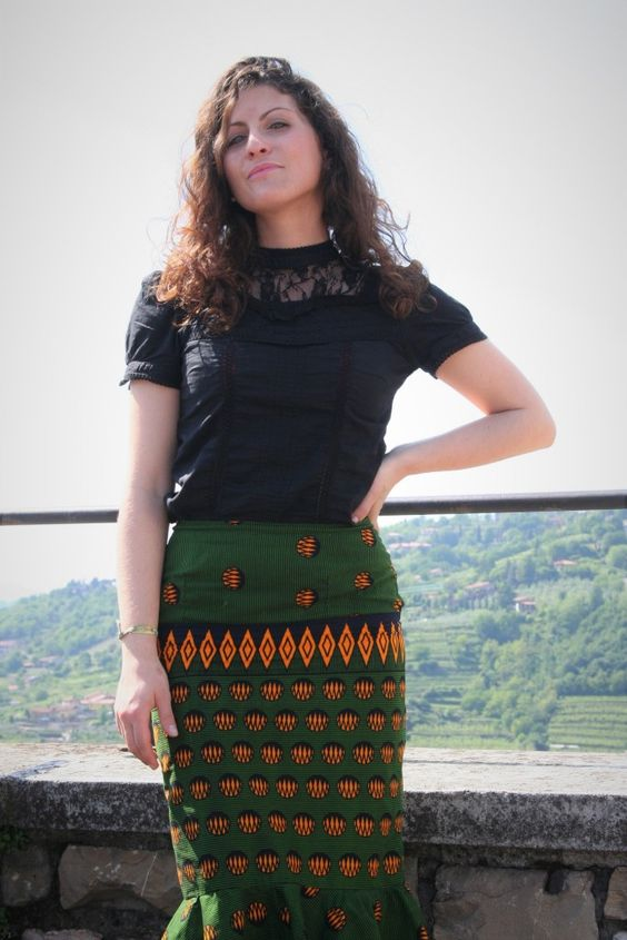 pencil skirt - afro print - waxprint