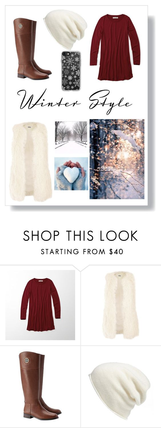 """""""Winter style"""" by a-hidden-secret ❤ liked on Polyvore featuring Abercrombie & Fitch, Jakke, Tory Burch, Halogen and Casetify"""