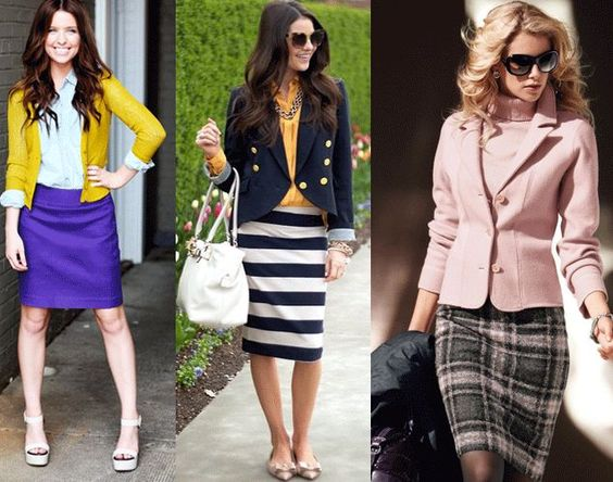 Love this pink sweater blazer and skirt! Have to make it