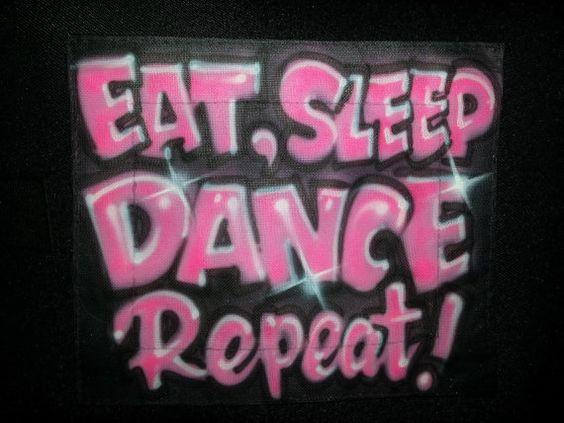 Eat, Sleep Dance Repeat! on Etsy, $30.00