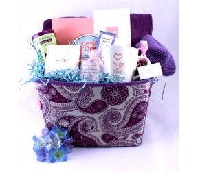 DELUXE Purple Breast Cancer Basket
