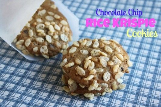 Chocolate Chip Rice Krispie Cookies from @createdbydiane