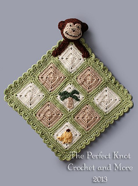 Ravelry: Monkey Lovey Security Blanket by The Perfect Knot - Michelle Kovach