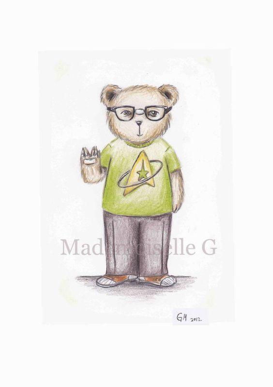 The Geek Teddy by MademoiselleG on Etsy, $15.00