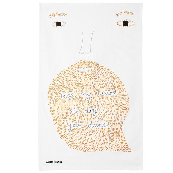 Donna Wilson Use My Beard Tea Towel
