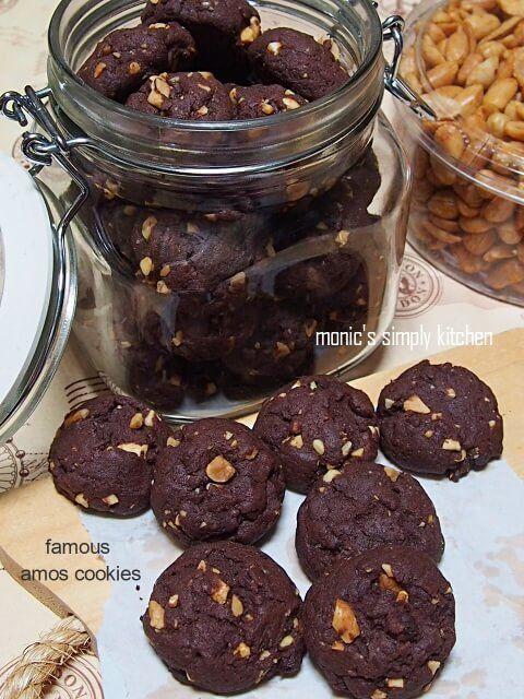Famous Amos Double Chocolate Cookies Resep Biskuit Kue Kering Mentega Makanan Manis