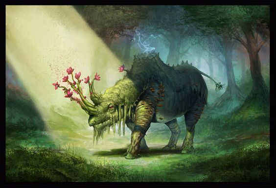 Elemental Rhino by willpheonix.deviantart.com on @deviantART