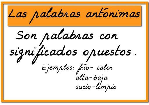 Escuela bloguera: Sinónimos y Antónimos