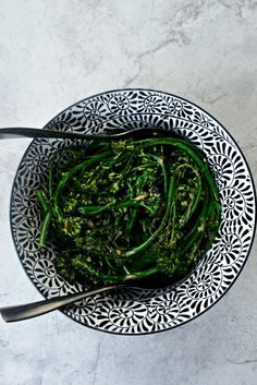 10-minute Spicy Ginger   Garlic Roasted Broccolini l SimplyScratch.com