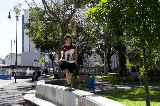 """Camiseta """"Templo de la Música"""". Marca 123QUESO®,  Línea """"Callejeando"""". www.123queso.com"""
