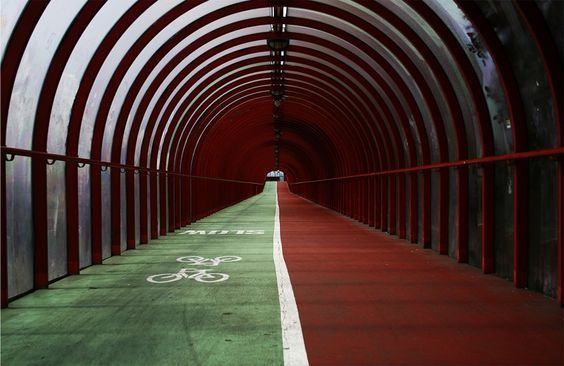 'SECC Tunnel' -    Paul Brown |  A bright capture of the long foot/cycle path connecting the city centre to the SECC