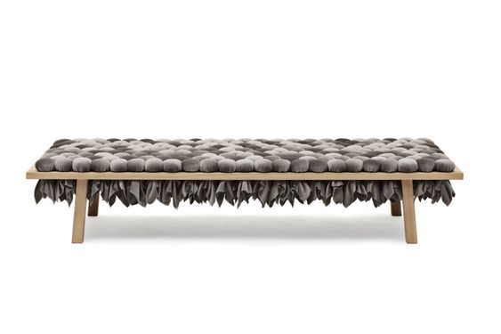 2014 Ditte Hammerstrom Ash, foam, mohair  L 212 x B 70 X H 43 cm  limited edition of 8 (+4 prototypes)