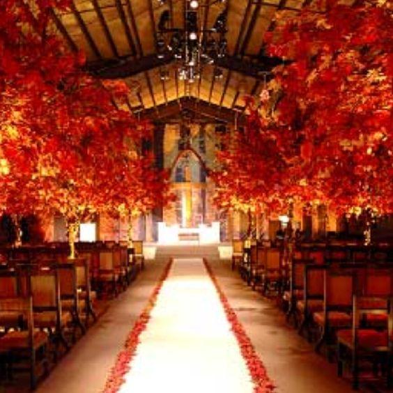 Fall theme wedding. My wedding WILL look like this. Beautiful.
