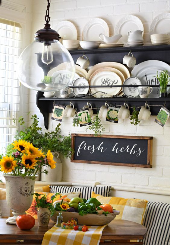 Follow The Yellow Brick Home - French Farmhouse Lemons and Sunflowers Tablescape – Follow The Yellow Brick Home