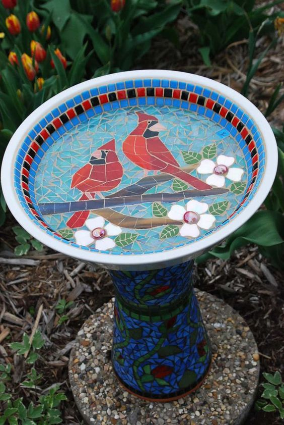 10 Beautiful DIY Garden Mosaic Projects | Home Design And Interior