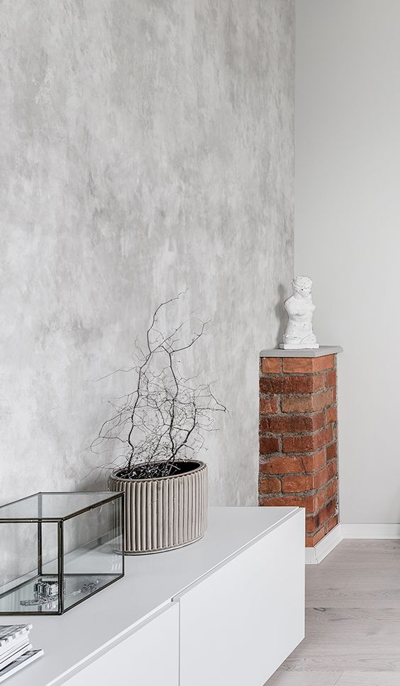 Fresco Wall In 2020 Feature Wall Living Room Concrete Walls Bedroom Wallpaper Designs For Walls
