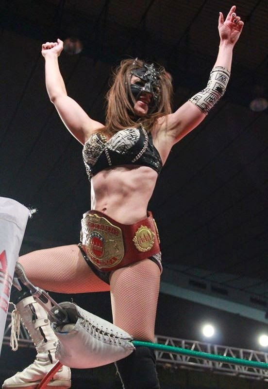 Mexican Luchadora Sexy Star Wearing The Aaa World Mixed