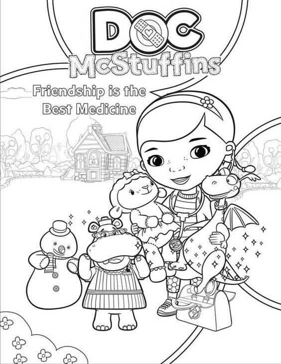 Doc McStuffins, Coloring and Home on Pinterest