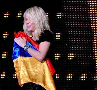 Shakira Azerbaijan Armenian Flag
