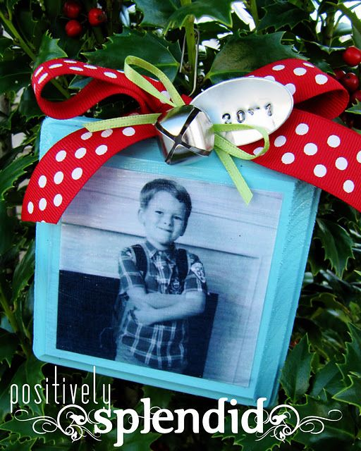 Photo Ornament with Wish List on back - love it!