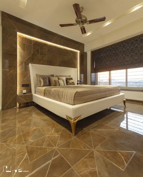 Dark Symposium Residence At Nashik Bedroom Bed Design Modern Bedroom Design Bedroom False Ceiling Design