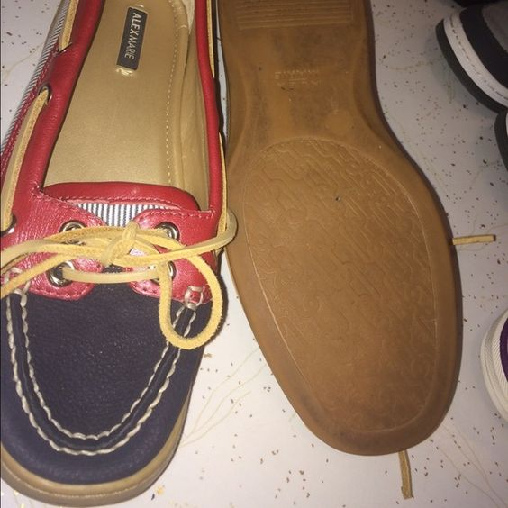 Alex Marie boat shoes Red white and blue. Size 7. All leather Alex Marie Shoes Flats & Loafers