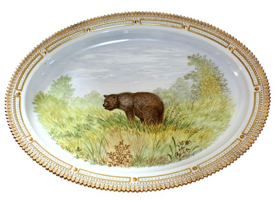 Fauna Danica bear platter