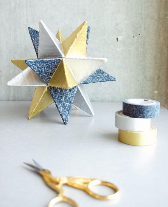 DIY Washi Tape Star Decor from Papernstitch - Home - Creature Comforts - daily inspiration, style, diy projects + freebies