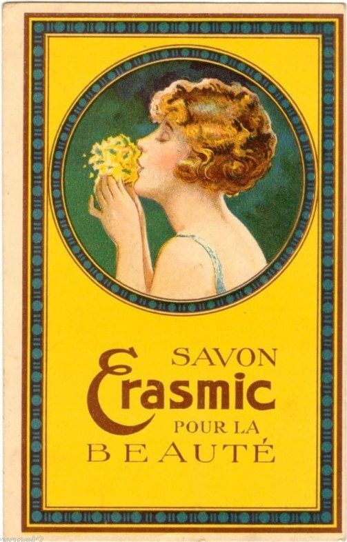 French soap label