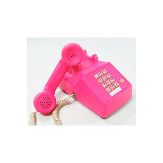 Vintage Push Button Telephone ❤ liked on Polyvore featuring decor