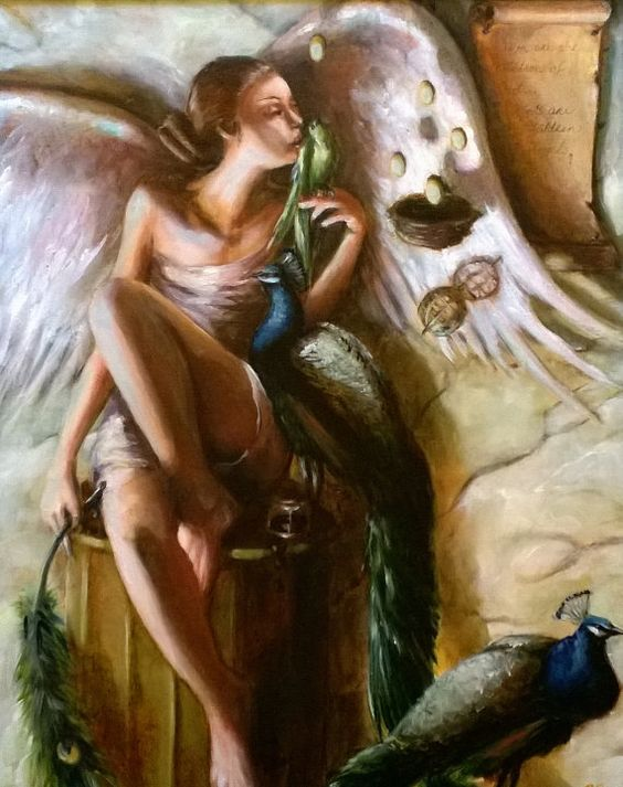 FREE SHIPPING Original Oil Painting  Birds are by RebeccaRiggle, $450.00