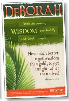 DEBORAH - Women of the Bible Bulletin Board Poster Set: