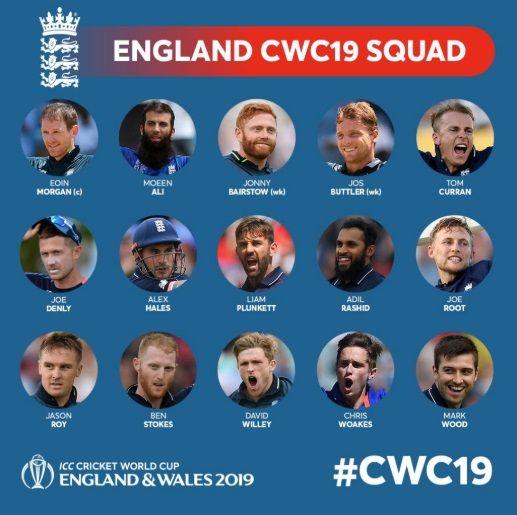 Wc19 England Squad England Cricket Team Cricket World Cup England World Cup Squad