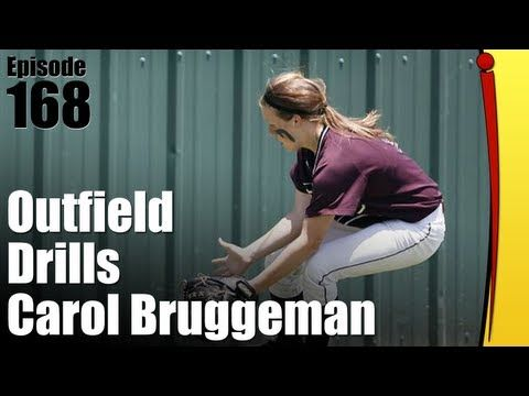 ▶ Fastpitch Softball Outfield Drills - Carol Bruggeman - YouTube