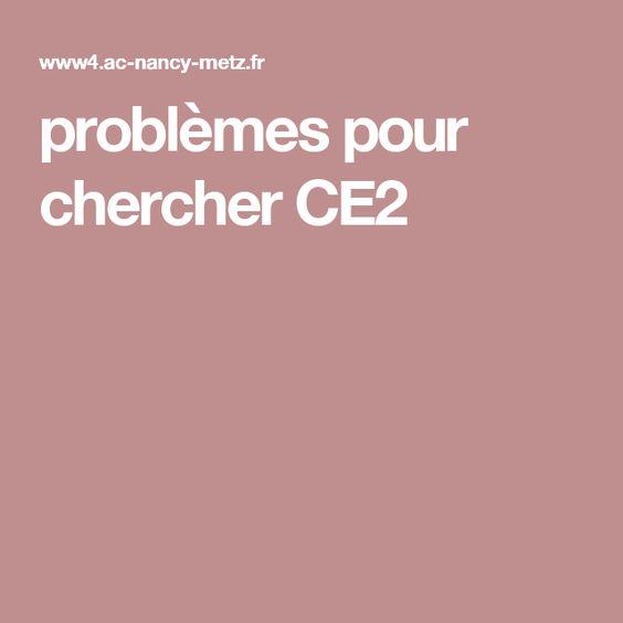 problèmes pour chercher CE2