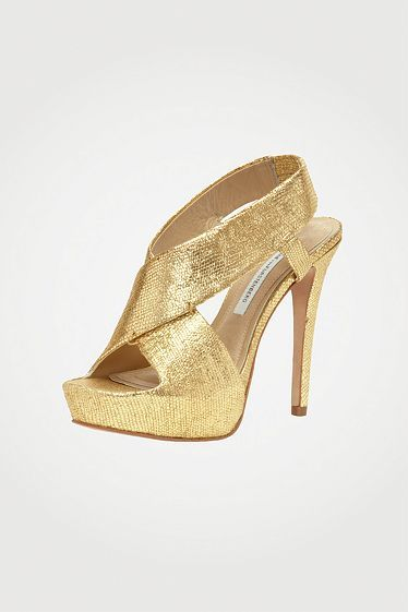 Zia II in gold metallic leather, Fall 2012: Rendez-vous