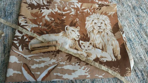 Check out this item in my Etsy shop https://www.etsy.com/listing/465468055/retro-african-safari-fabric-vintage