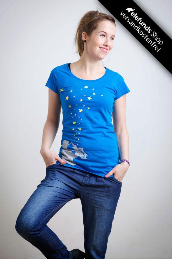 #Recolution - #Saxman - Frauen T-Shirt - blau - 29,90€ - 100% organic cotton and fairtrade - Versand kostenlos
