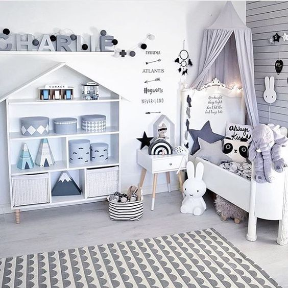 Gender Neutral Kids Room: A Gender Neutral Kids Room With A Whimsical Monochrome