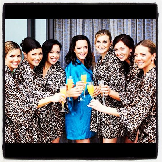 love the leopard and wedding day morning mimosas!!!