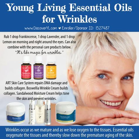 Young Living Essential Oils for Wrinkles #aging