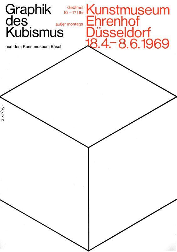 Breker (Walter, DE) 1969 Graphik des Kubismus (Kunstmuseum Ehrenhof Düsseldorf) Plakat A1 | Flickr - Photo Sharing!